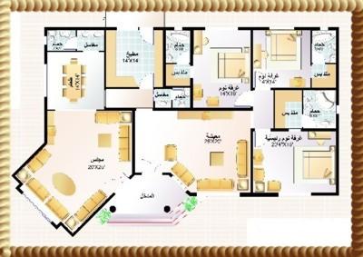 بالصور مخططات منازل دور واحد سعوديه 20160805 74