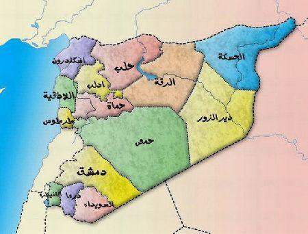 صور خريطة سوريا مفصلة