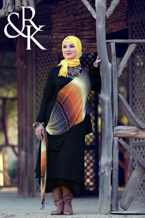 صور لبس شتوى محجبات موضة 2019