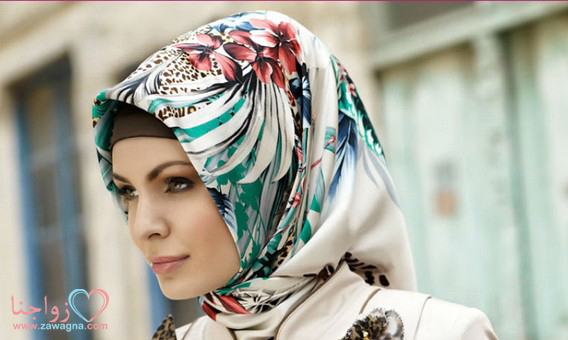 بالصور 100موديل آخر صيحات موضه  لفه  و ربط ألحجاب ألتركى بخطوات بسيطة  مصورة  لشتاءَ عام2015/zawagna.com