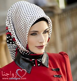 بالصور 100موديل آخر صيحات موضة لفة وربط الحجاب التركي بخطوات بسيطة مصورة لشتاءَ عام2015/zawagna.com