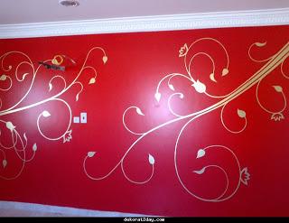 صور الوان حوائط انتريهات لونها نبيتى