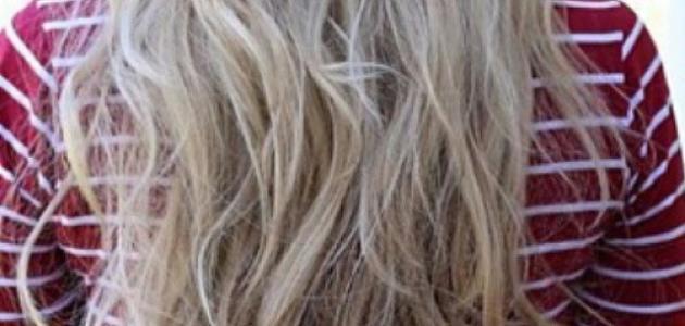 كيف اصبغ شعري اشقر رمادي