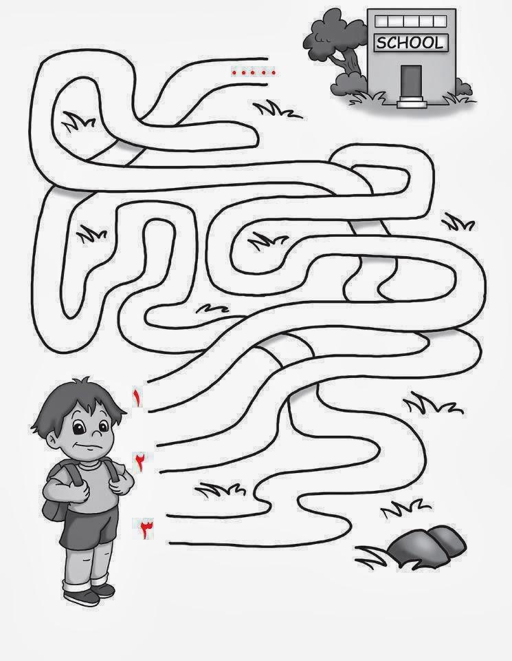 سؤال ذكاء صور اسئله اذكياء لغز ما هو الطريق الذى سيوصل الطالب للمدرسة