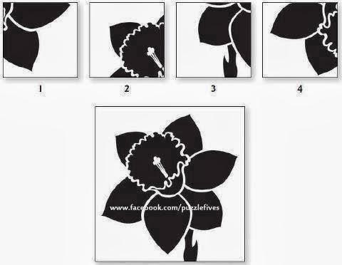 صورة صور الغاز اسئلة ذكاءَ اذكياءَ صعبة ما هُو الجُزء الناقص ليكمل الوردة