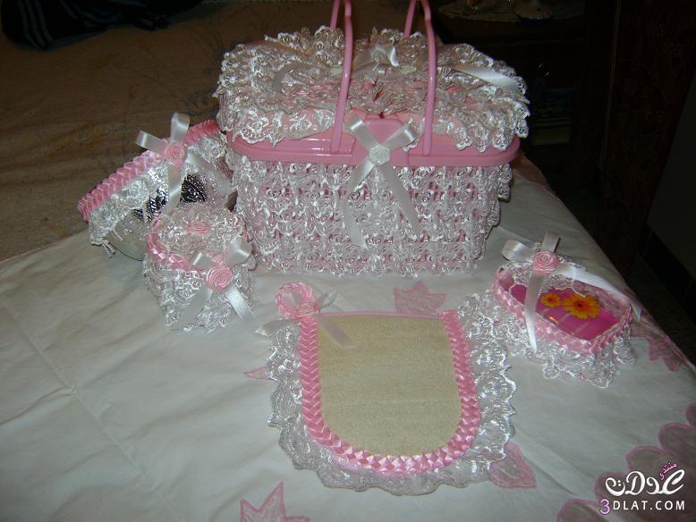 تزيين لوازم حمام منزل العروسة بكيفية مبتكرة و سهلة بالصور