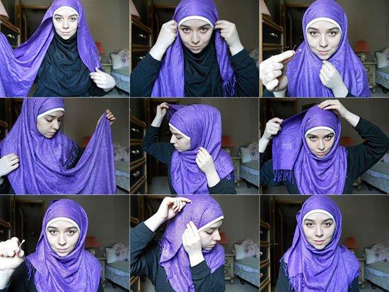 صور طرق لف الحجاب بالصور للمراهقات