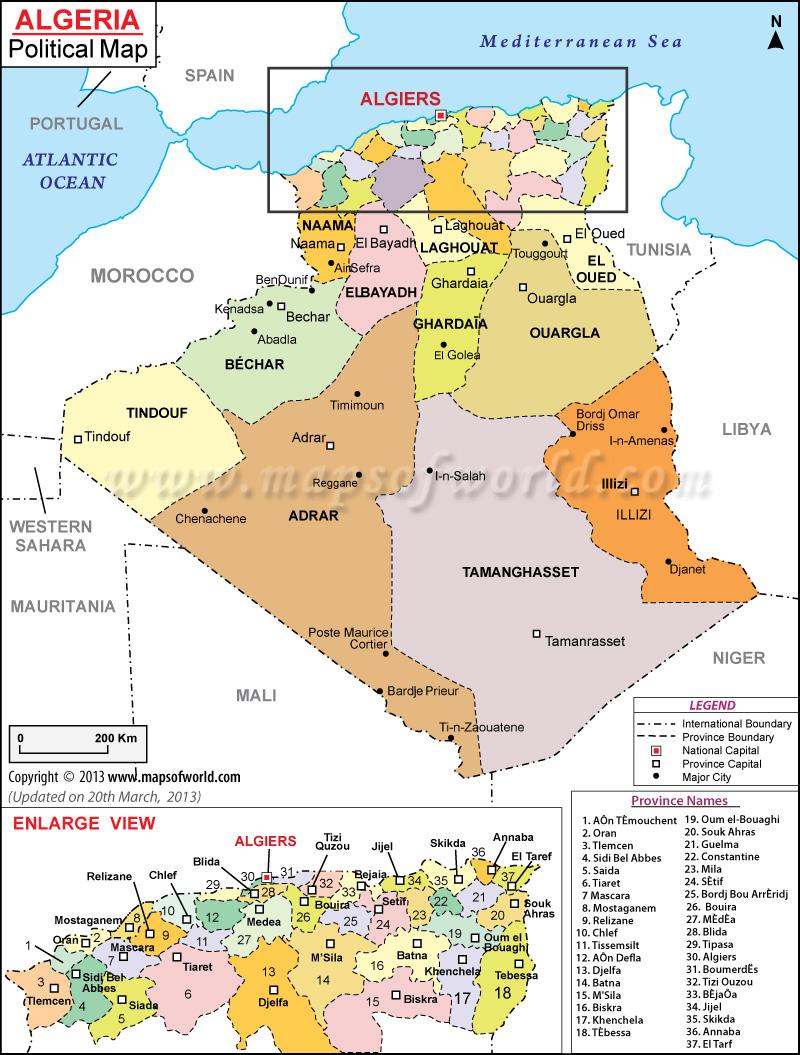 صور خريطة الجزائر السياسية الجديدة
