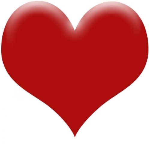 صور قلب احمر