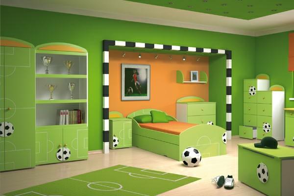 صور غرف الاطفال خضراء 2017 ديكورات الاطفال باللون الاخضر 2017