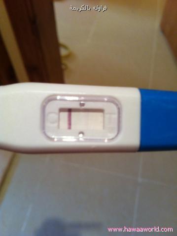 صور اختبار الحمل بعد حقنة التفجير