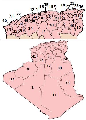 صور خريطة الجزائر بالتفصيل