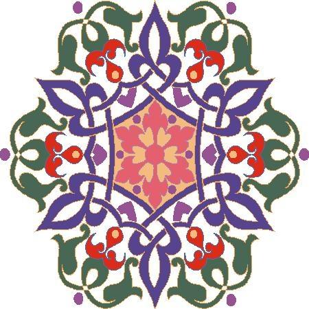 صور زخارف هندسية ملونة