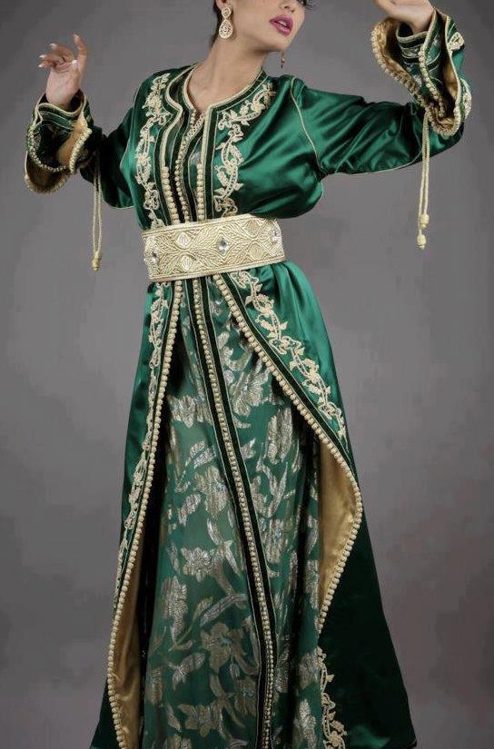 صور صور قفاطين مغربية للبنات اجمل قفطان مغربي مطرز