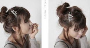 صور تسريحات بسيطة للعروس الكورية