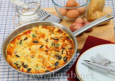 صور طريقة عمل البيض الاومليت التركى