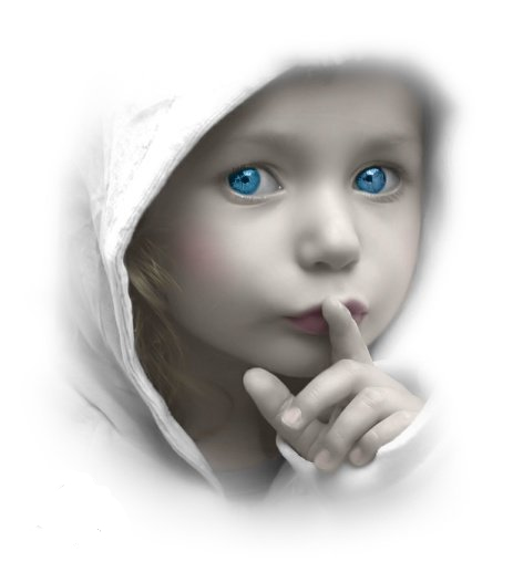 صور السكوت للاطفال  الصمت الاختيارى