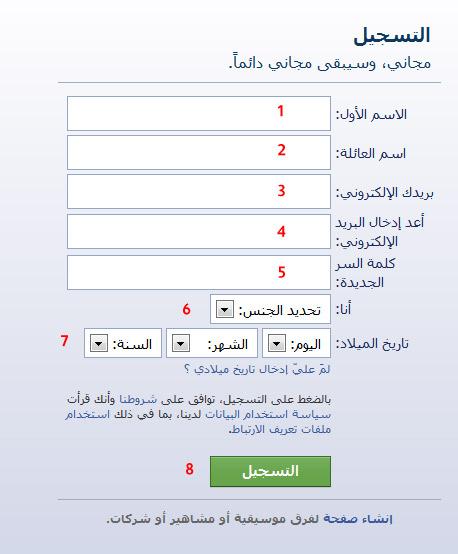 صور شرح طريقة تسجيل في فيس بوك