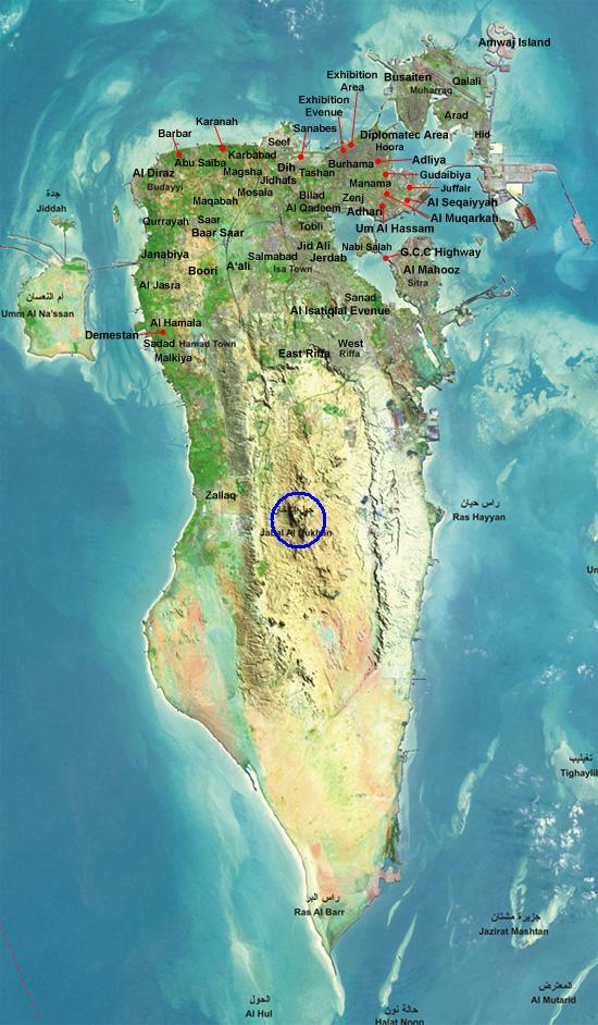 صور خريطة البحرين الصماء