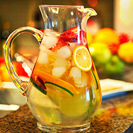 صور مكونات عصير شمبانيا