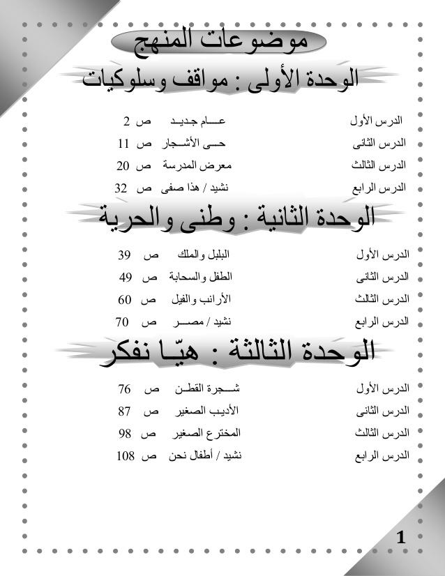 صور حل تدريبات الوحدة الاولي تالتة ابتدائي عربي