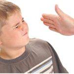 ضرب الطفل على الوجه