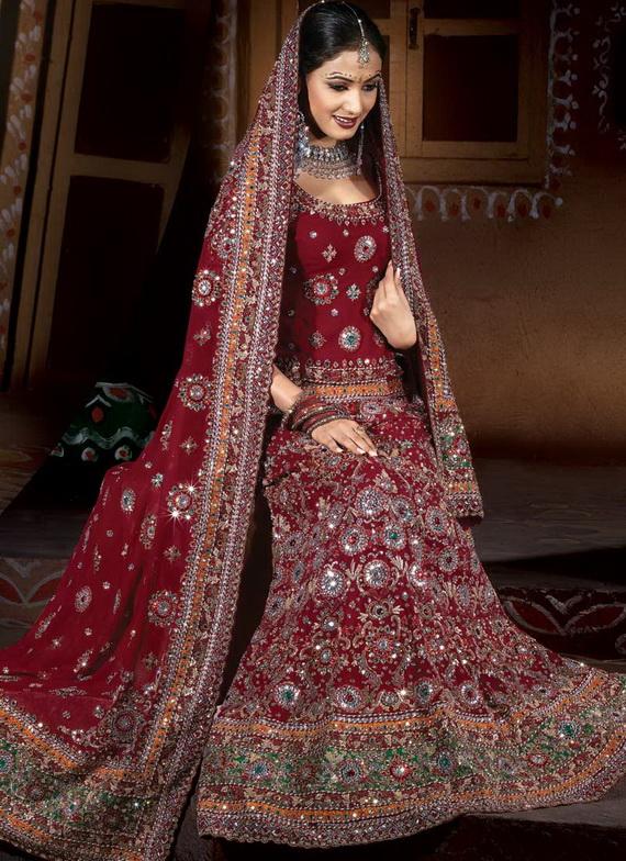 بالصور فساتين هندية للاعراس 20160909 4264