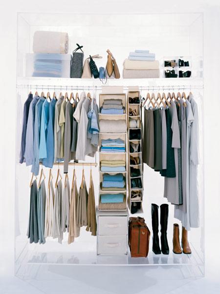 صور طريقة ترتيب خزانة الملابس