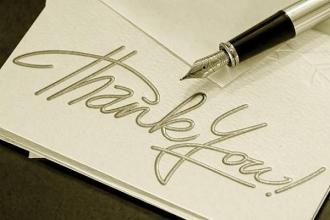 صورة رسالة شكر قصيرة