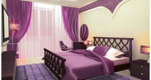 غرف نوم باللون البنفسجى 2019