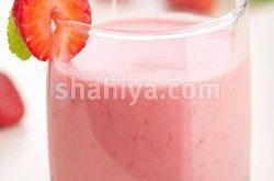 صورة طريقة عمل عصير الفراولة