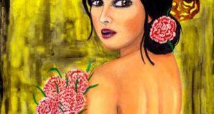 امراة من زهور