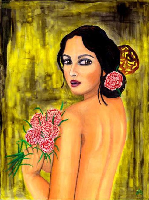 صورة امراة من زهور