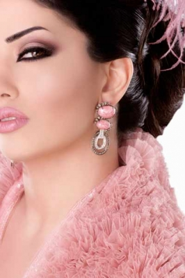 بالصور مكياج بلون الاخضر و الوردي للاعراس 2019 20160910 77