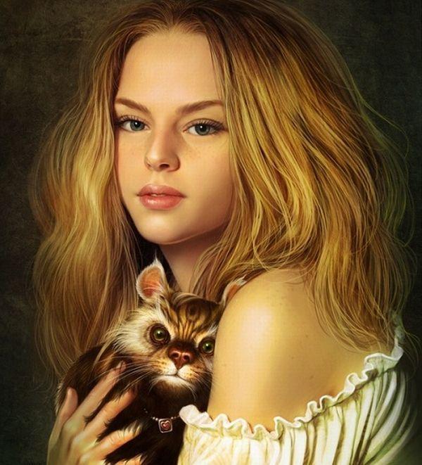 صور رسومات فتيات جميلات