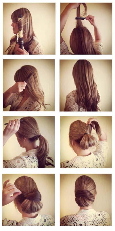 صور تسريحات شعر سهلة للشعر الطويل