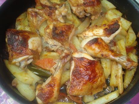 صور طريقة الدجاج بلبطاطس