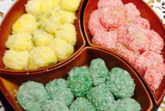 صور حلوى جوز الهند التركية