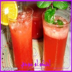 وصفة عصير الفراولة والسفن اب