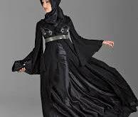 صورة فستان سوارية اسود محجبات