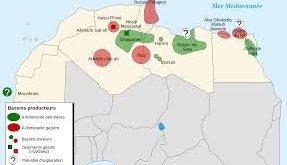 صور خريطة للجزائر مع الحدود السياسية