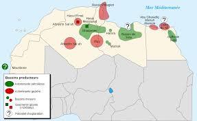 خريطة للجزائر مع الحدود السياسية