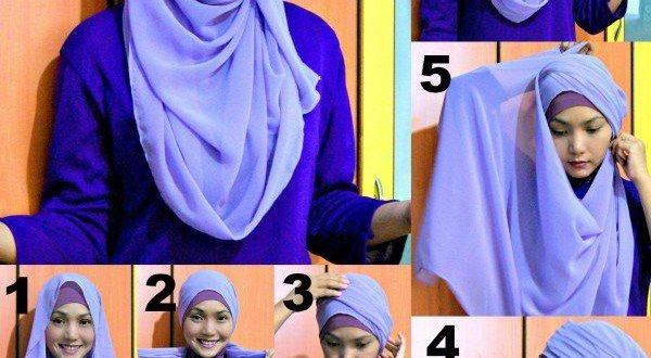 صور طريقة عمل الحجاب