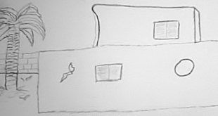 صورة بيت تراثي سهل الرسم