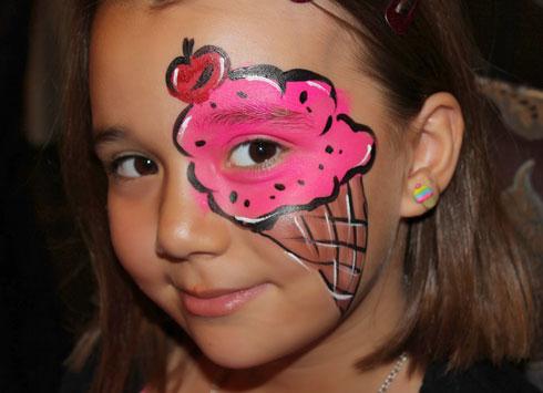 تعليم الرسم على الوجه للاطفال بالصور اجمل جديد
