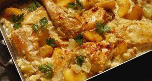 صينية الدجاج مع البطاطس