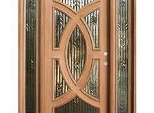 صور تصميمات لابواب خشبية داخلية الحديثة