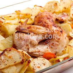 صورة طريقة عمل الفراخ مع البطاطس