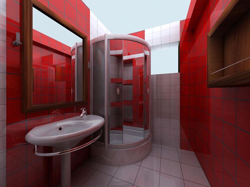 بالصور حمامات لون احمر 20160918 1147