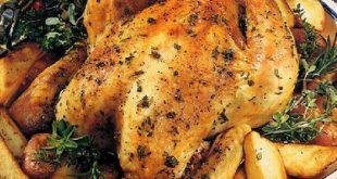 صور الدجاج بالزعتر والسماق